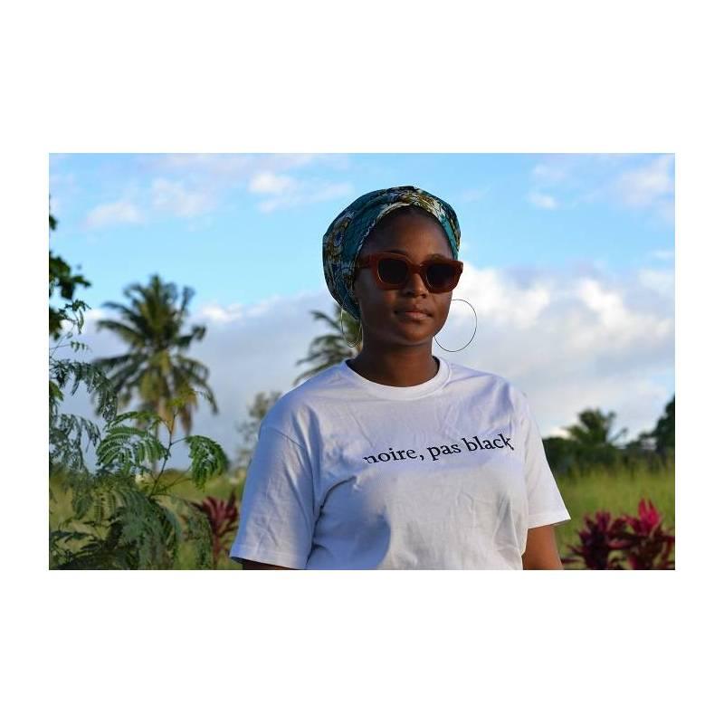 T-shirt NOIR, PAS BLACK, couleur blanc