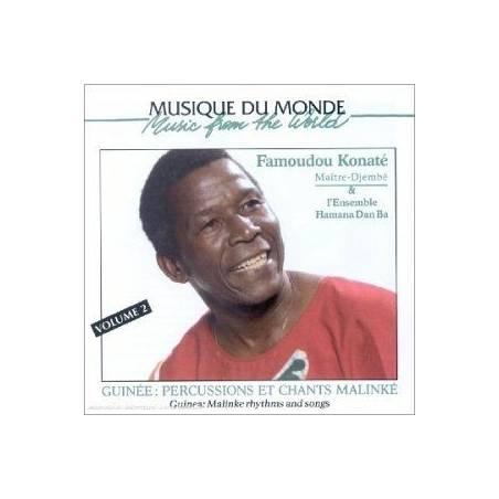 Percussions et chants malinké volume 2 - Artiste : Famadou Konaté / Guinée