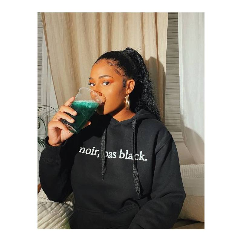 Sweat-shirt NOIR, PAS BLACK avec capuche