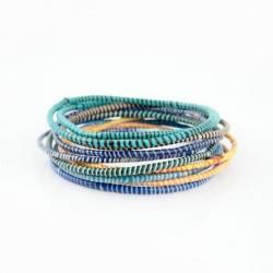 Bracelets cheville en plastique recyclé