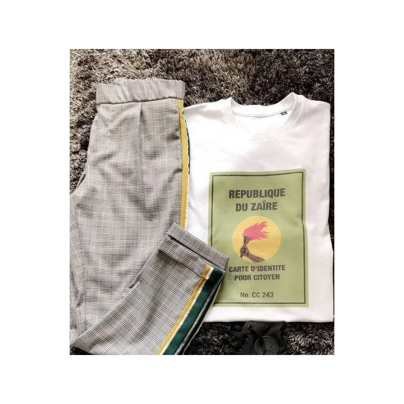 T-shirt REPUBLIQUE DU ZAÏRE - CARTE D'IDENTITE POUR CITOYEN