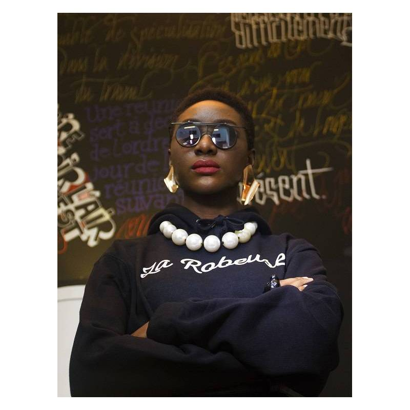 Sweat-shirt à capuche LA ROBEUSE - Collection Afrikanista