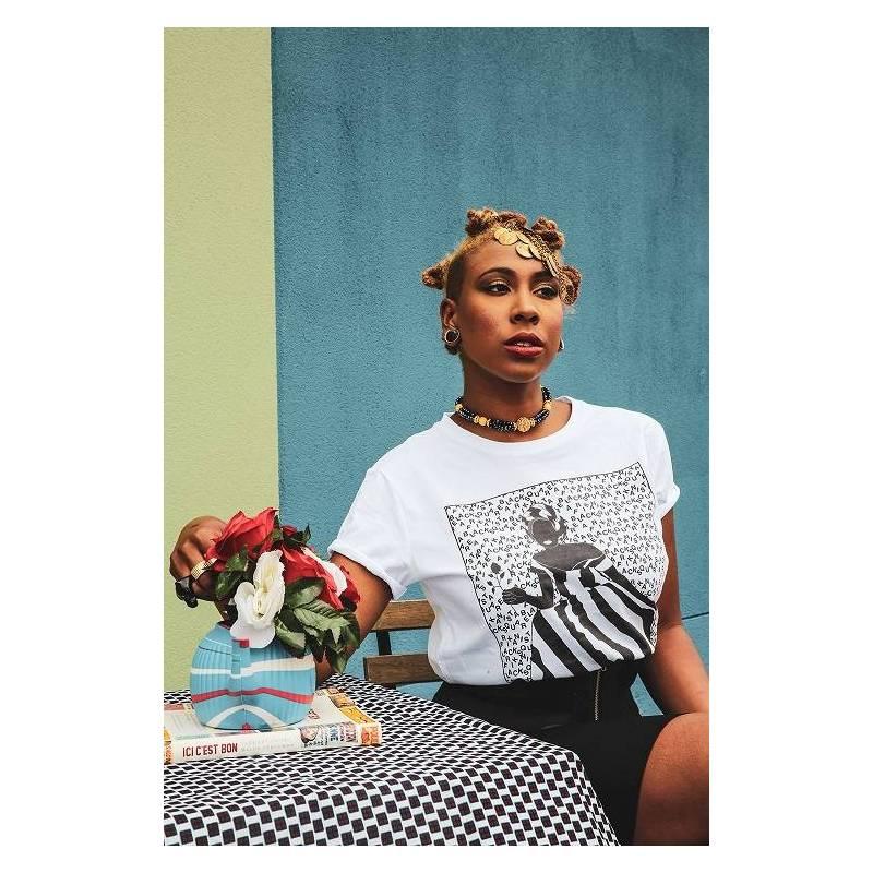 T-shirt illustré LA ROBEUSE - Collection Afrikanista