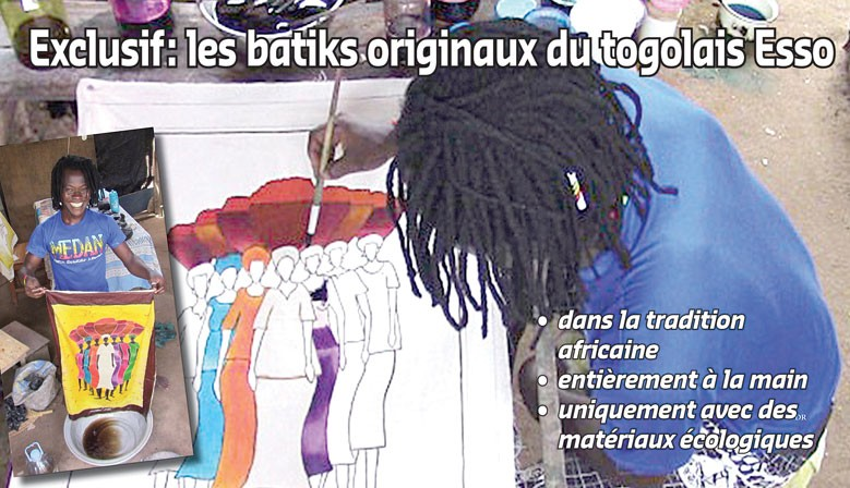 Les batiks originaux du togolais Esso